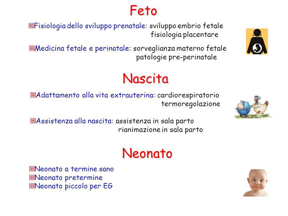 Fisiologia dello sviluppo prenatale: sviluppo embrio fetale fisiologia placentare Medicina fetale e perinatale: sorveglianza materno fetale patologie