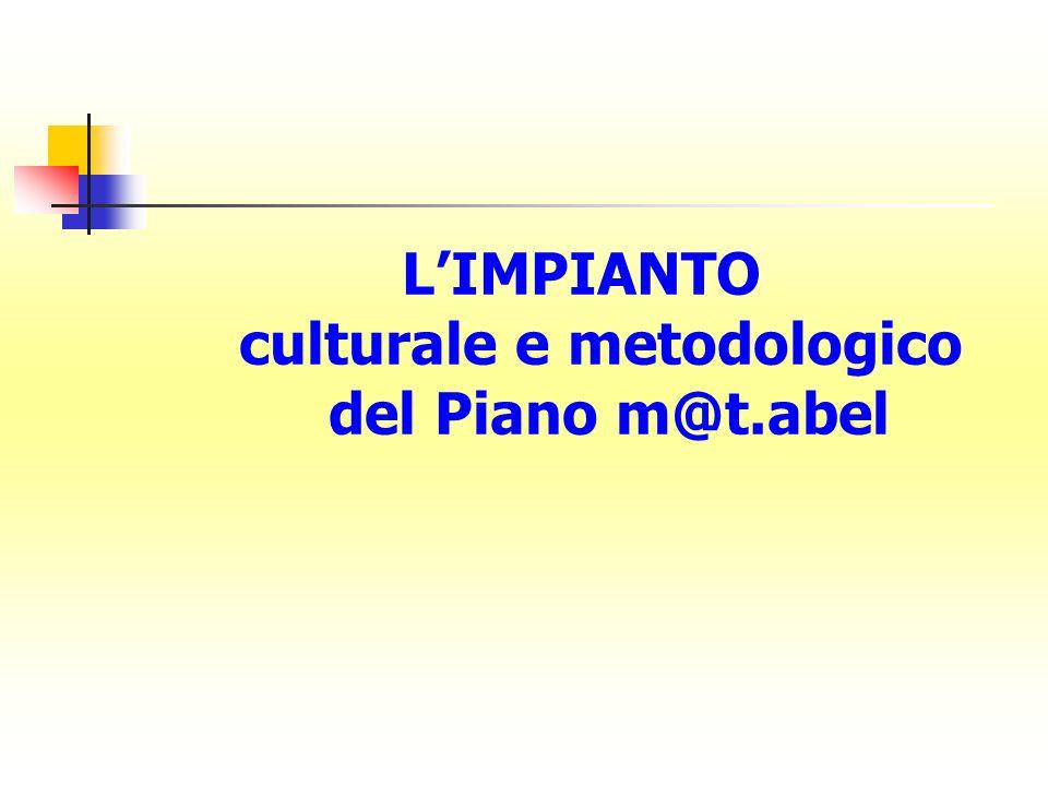 LIMPIANTO culturale e metodologico del Piano m@t.abel