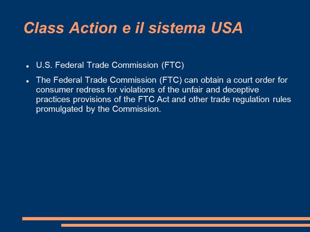 Class Action e il sistema USA U.S.