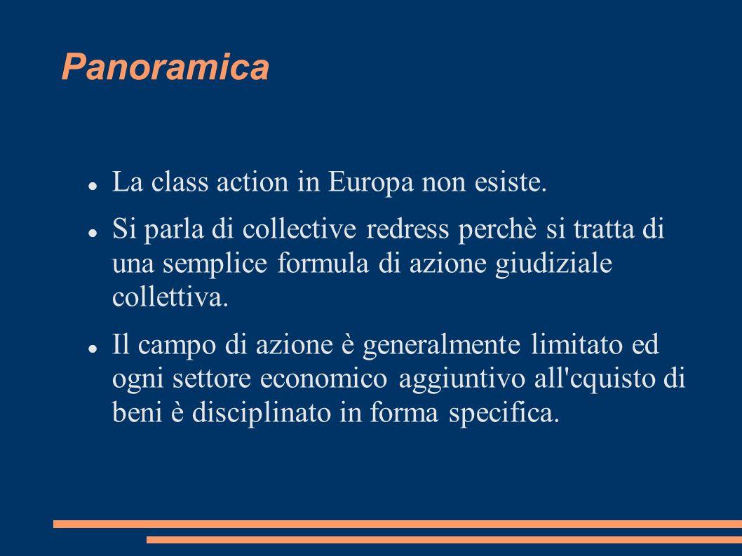 Panoramica La class action in Europa non esiste.