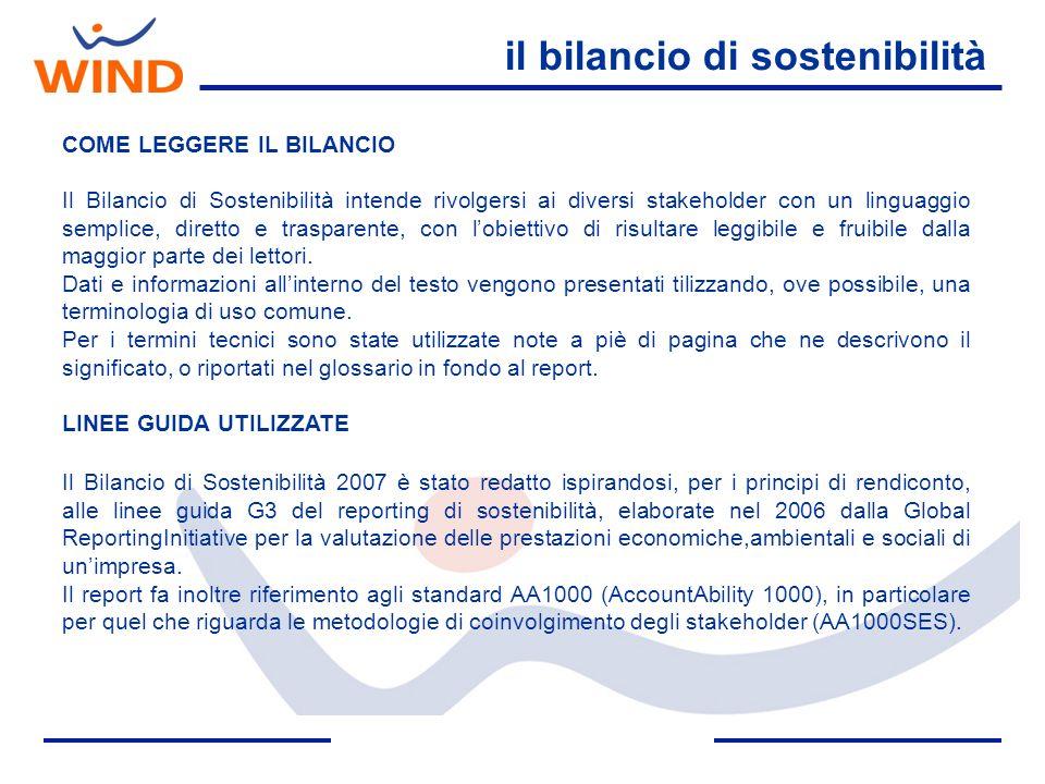 il bilancio di sostenibilità COME LEGGERE IL BILANCIO Il Bilancio di Sostenibilità intende rivolgersi ai diversi stakeholder con un linguaggio semplic