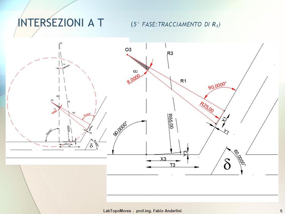 INTERSEZIONI A T ( 5° FASE:TRACCIAMENTO DI R 1 ) LabTopoMorea - prof.ing. Fabio Anderlini6
