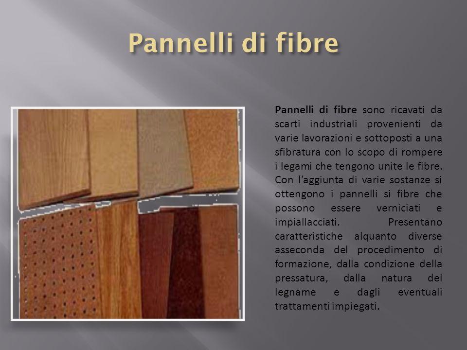 Pannelli di fibre sono ricavati da scarti industriali provenienti da varie lavorazioni e sottoposti a una sfibratura con lo scopo di rompere i legami