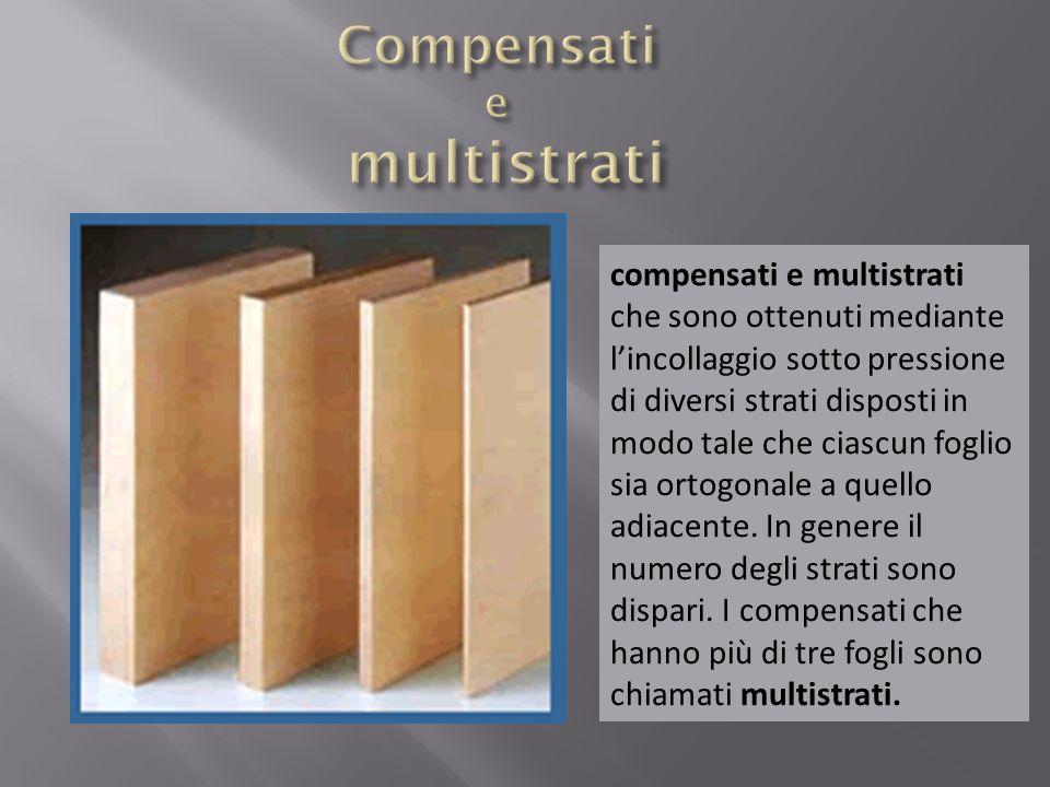 compensati e multistrati che sono ottenuti mediante lincollaggio sotto pressione di diversi strati disposti in modo tale che ciascun foglio sia ortogo