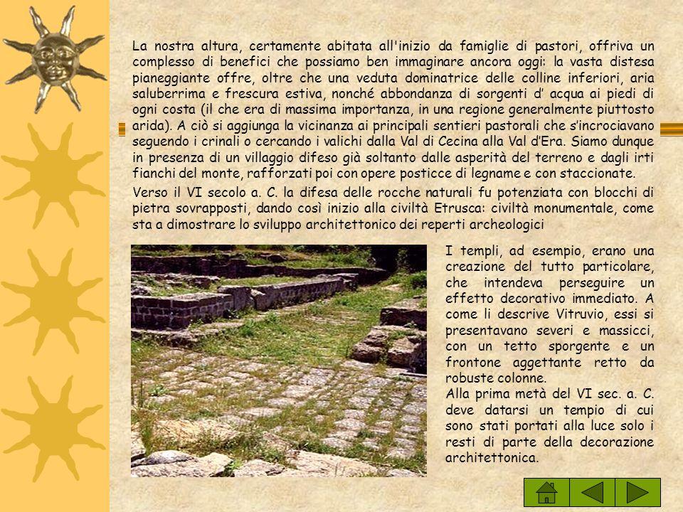L' Acropoli : ricostruzione storica L' Acropoli : ricostruzione storica La presenza di importanti resti archeologici sta a indicare come lAcropoli Etr