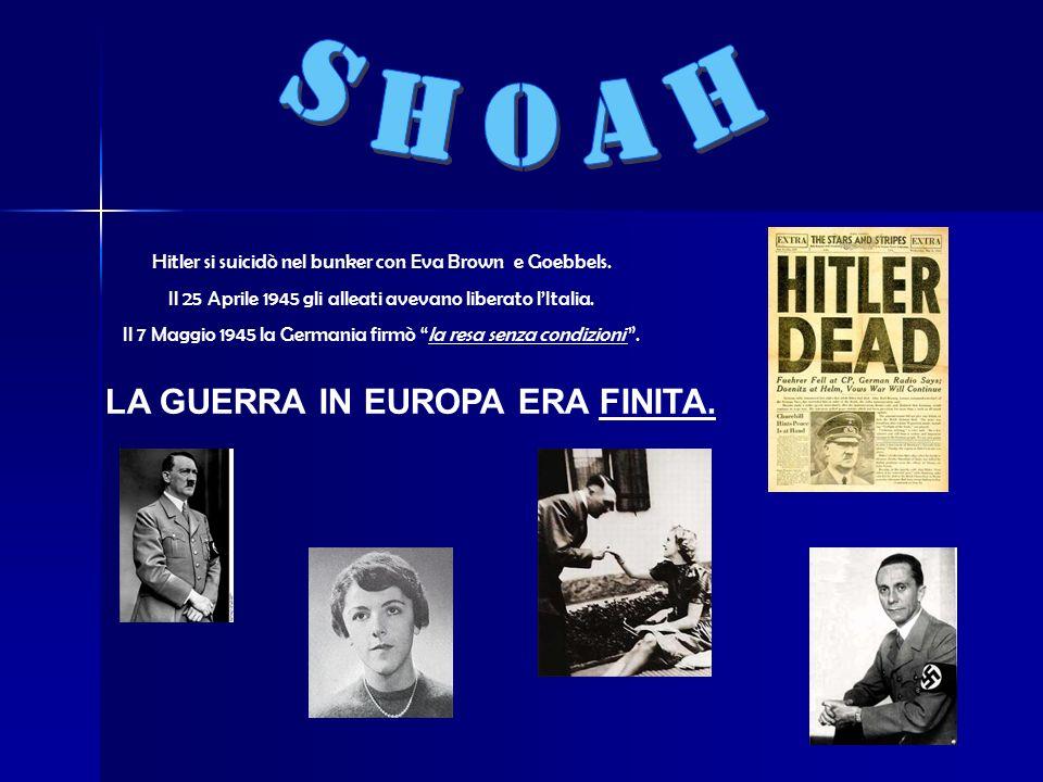 Hitler si suicidò nel bunker con Eva Brown e Goebbels.