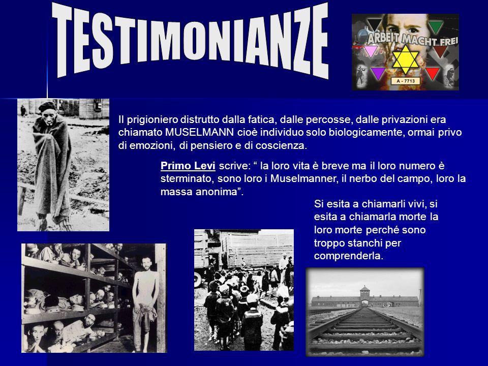 Da A lettera iniziale a Z lettera finale, Auschwitz, si scandisce lalfabeto dellorrore. Sono uomini quelli che vengono uccisi! Sono uomini quelli che