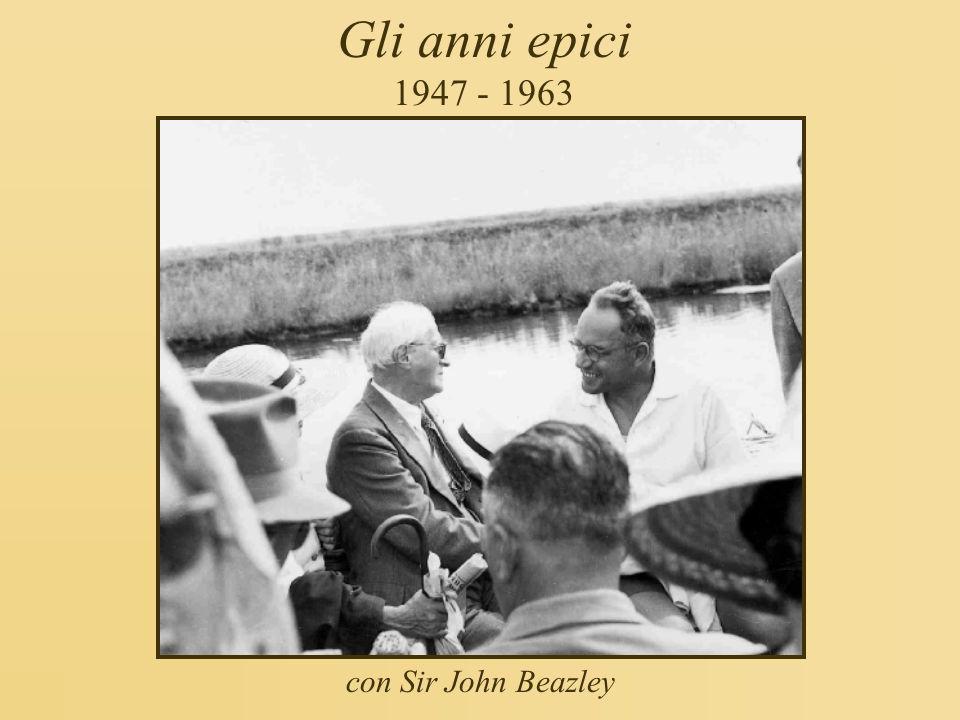 Gli anni epici 1947 - 1963 con Sir John Beazley
