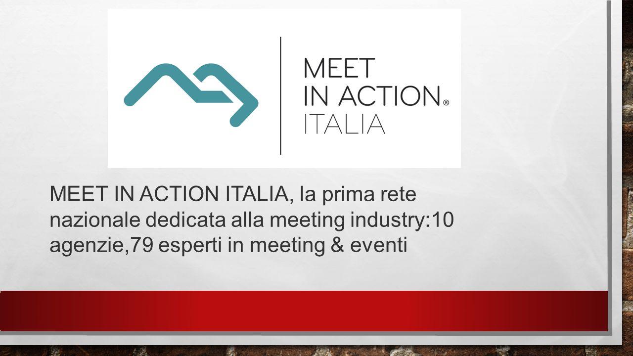 MEET IN ACTION ITALIA, la prima rete nazionale dedicata alla meeting industry:10 agenzie,79 esperti in meeting & eventi