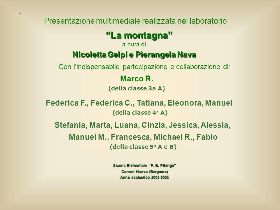 Presentazione multimediale realizzata nel laboratorio La montagna a cura di Nicoletta Gelpi e Pierangela Nava Con lindispensabile partecipazione e col