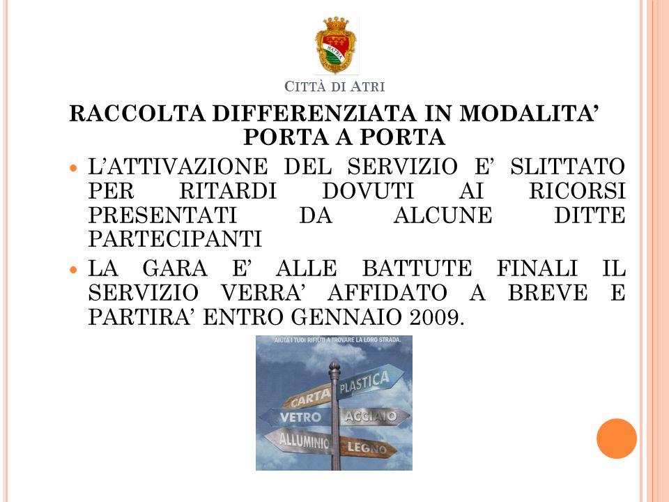 CROCE ROSSA Istituita ununità della CROCE ROSSA ITALIANA per il territorio di Atri Corsi di primo Soccorso ed Educazione Sanitaria.