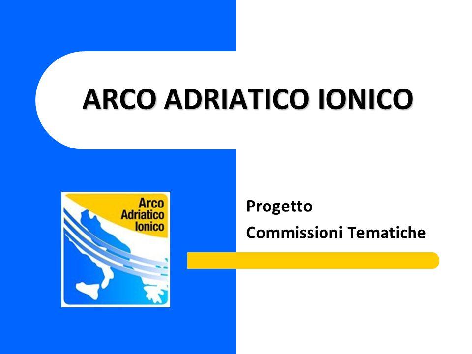 ARCO ADRIATICO IONICO Progetto Commissioni Tematiche