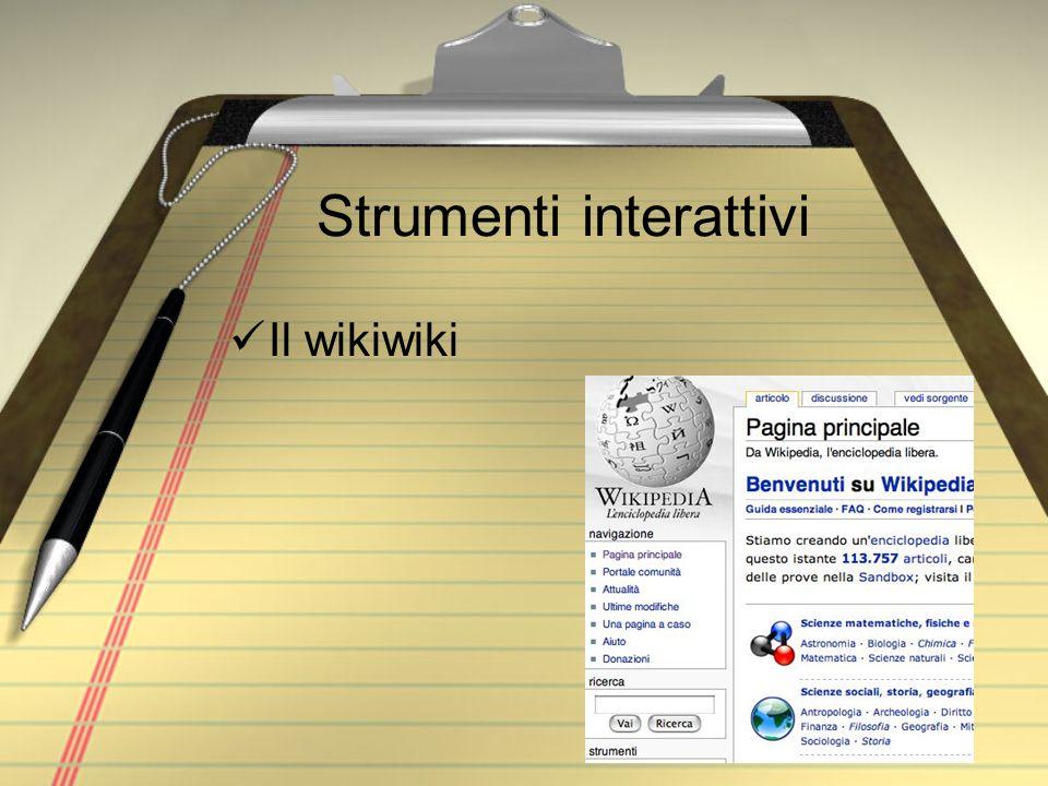 Strumenti interattivi Il wikiwiki