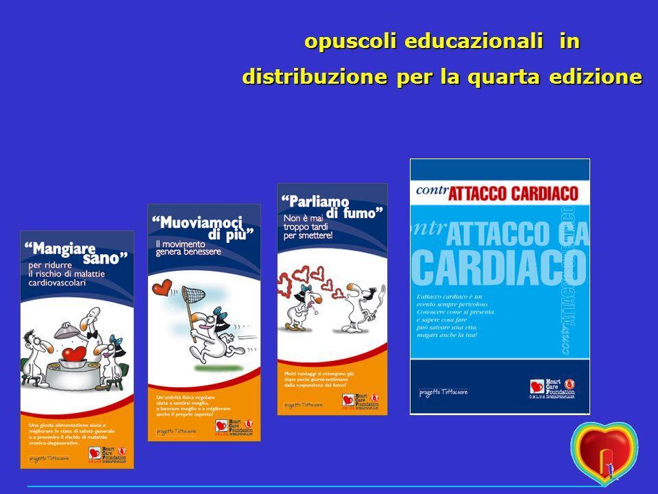 opuscoli educazionali in distribuzione per la quarta edizione