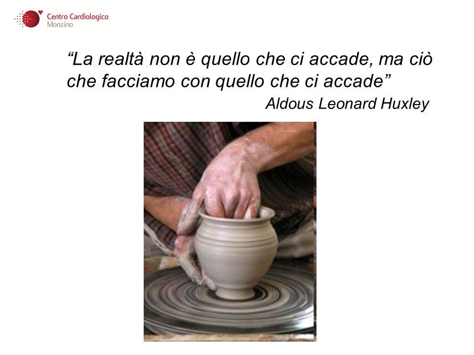 La realtà non è quello che ci accade, ma ciò che facciamo con quello che ci accade Aldous Leonard Huxley