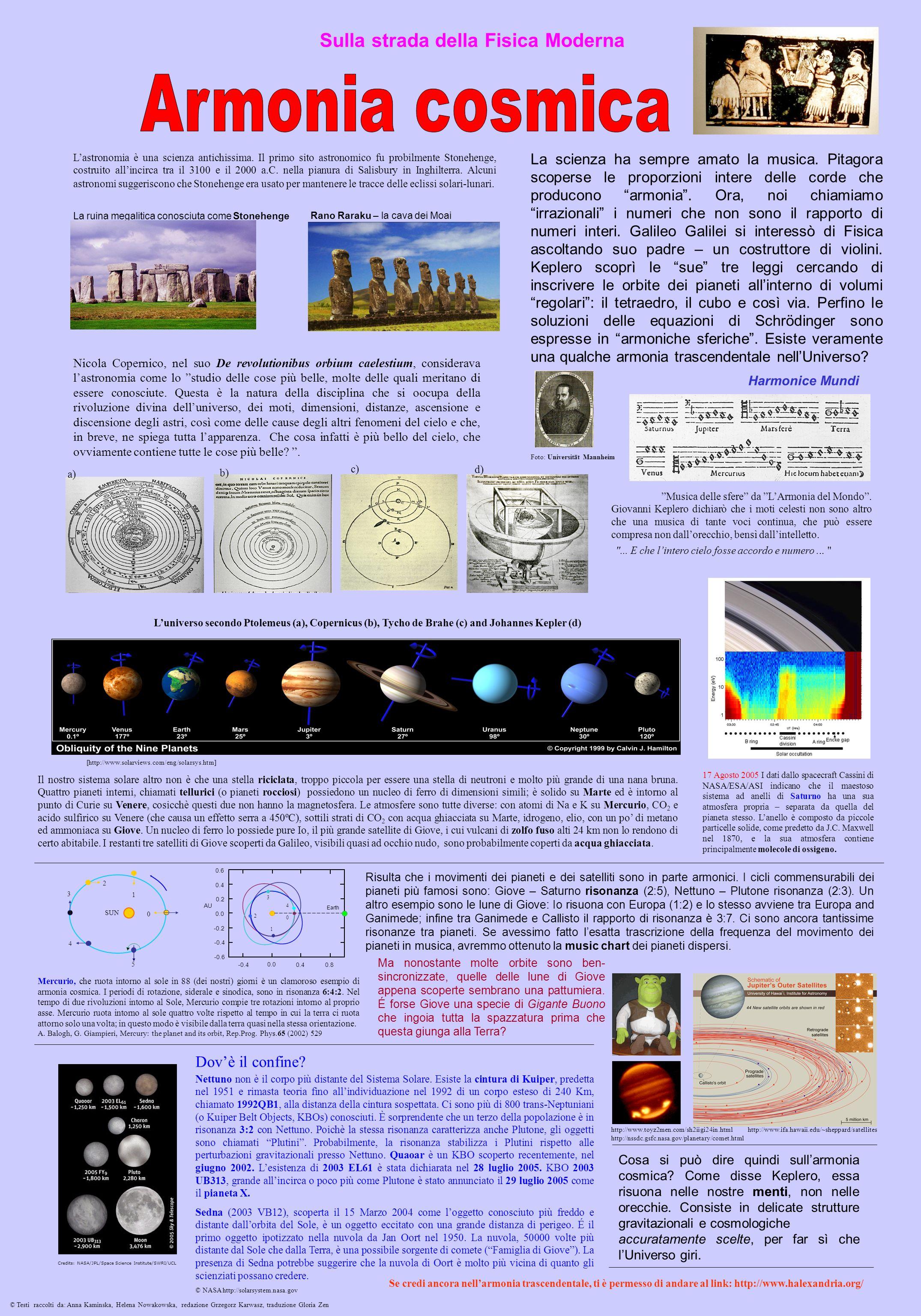 Sulla strada della Fisica Moderna Il nostro sistema solare altro non è che una stella riciclata, troppo piccola per essere una stella di neutroni e mo