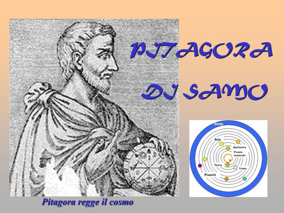 PITAGORA DI SAMO Pitagora regge il cosmo