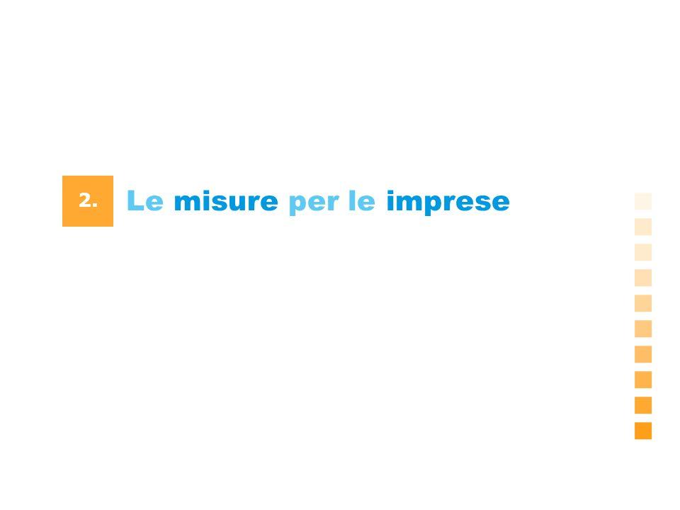 Le misure per le imprese 2.