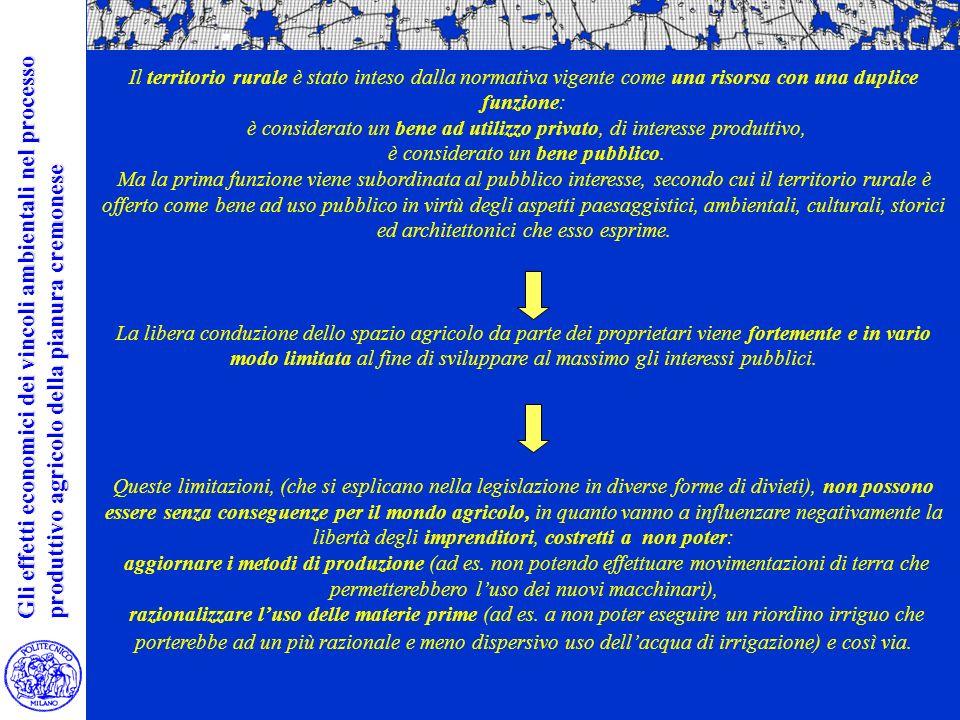 La valutazione ambientale dei limiti insediativi La valutazione ambientale dei limiti insediativi Nella di area vasta Il territorio rurale è stato inteso dalla normativa vigente come una risorsa con una duplice funzione: è considerato un bene ad utilizzo privato, di interesse produttivo, è considerato un bene pubblico.