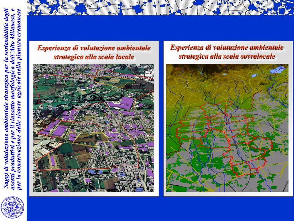 Saggi di valutazione ambientale strategica per la sostenibilità degli assetti produttivi e per il riassetto morfologico dellAlto Milanese, e per la co