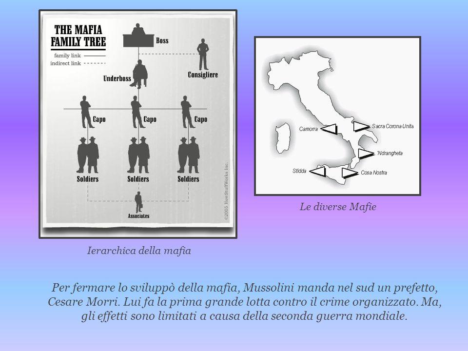 Per fermare lo sviluppò della mafia, Mussolini manda nel sud un prefetto, Cesare Morri. Lui fa la prima grande lotta contro il crime organizzato. Ma,