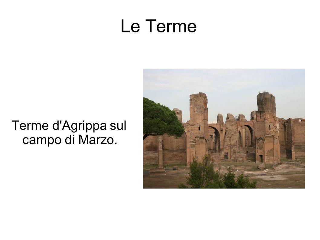Le Terme Terme d'Agrippa sul campo di Marzo.