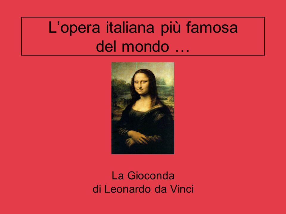 Lopera italiana più famosa del mondo … La Gioconda di Leonardo da Vinci