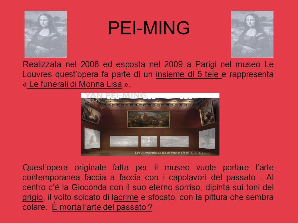 PEI-MING Realizzata nel 2008 ed esposta nel 2009 a Parigi nel museo Le Louvres questopera fa parte di un insieme di 5 tele e rappresenta « Le funerali