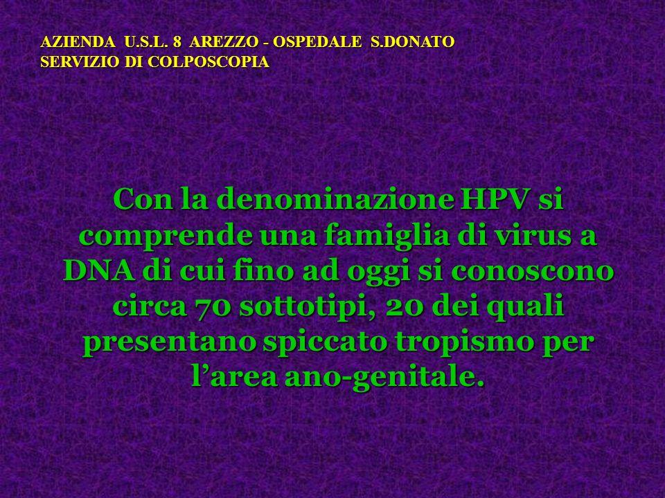 Con la denominazione HPV si comprende una famiglia di virus a DNA di cui fino ad oggi si conoscono circa 70 sottotipi, 20 dei quali presentano spiccat