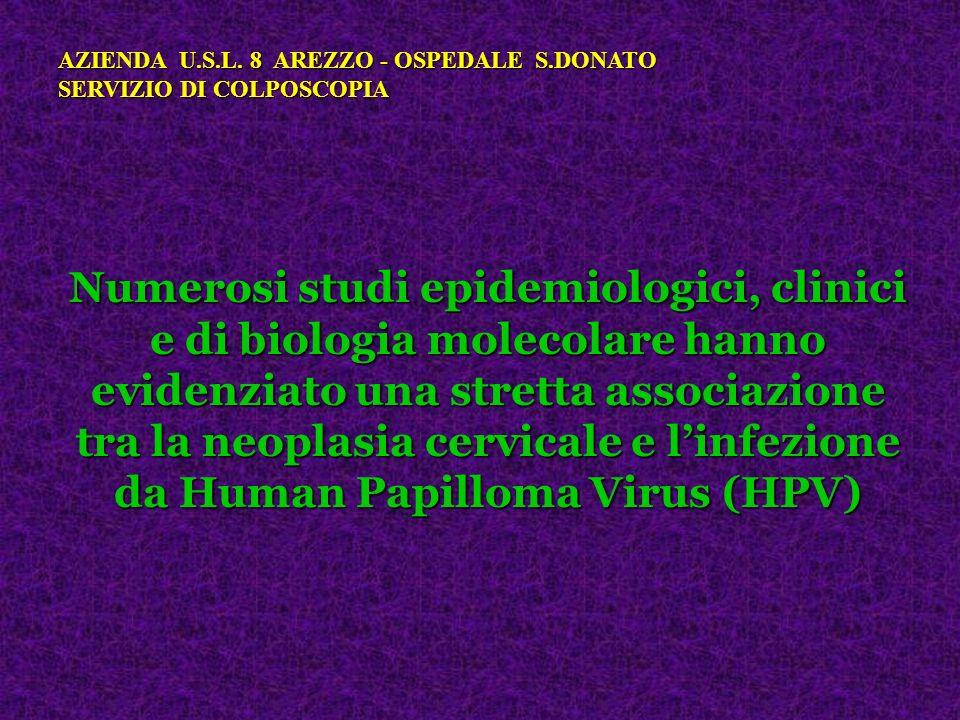 Numerosi studi epidemiologici, clinici e di biologia molecolare hanno evidenziato una stretta associazione tra la neoplasia cervicale e linfezione da