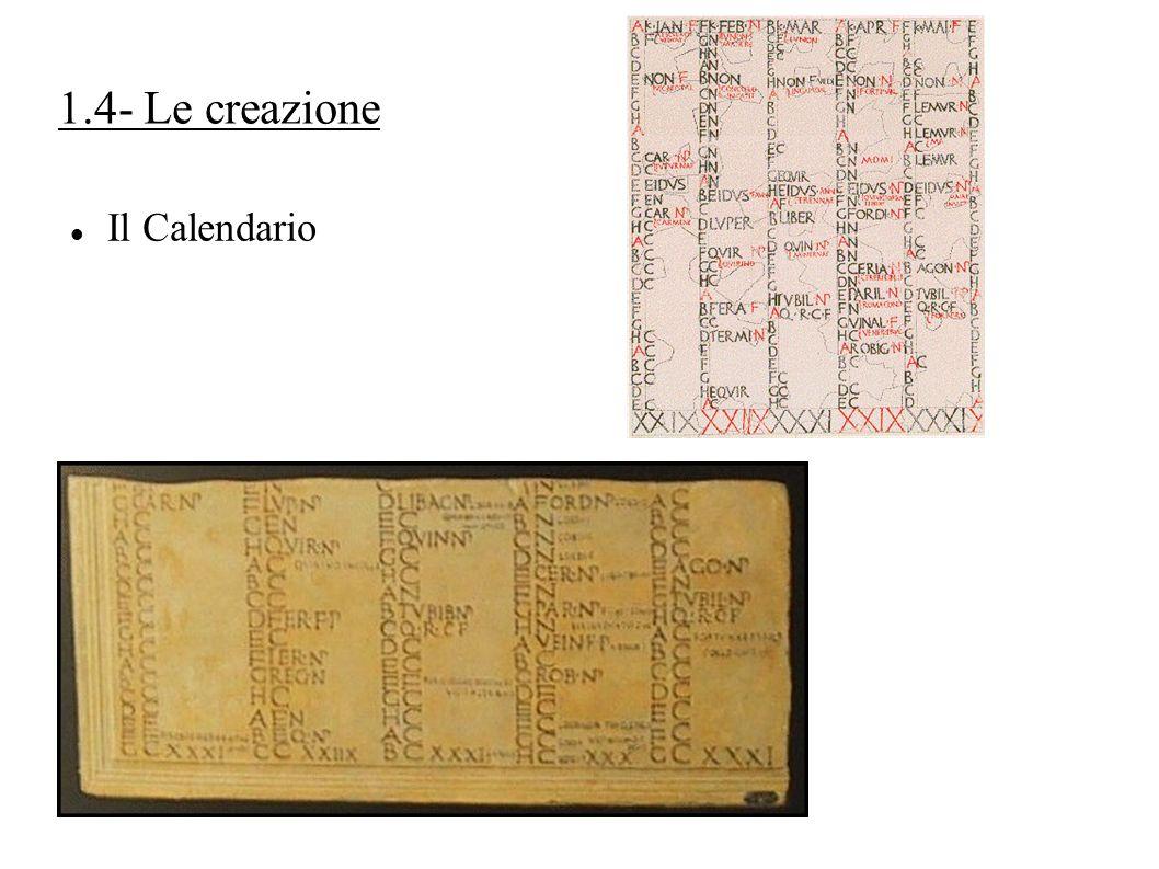 1.4- Le creazione Il Calendario