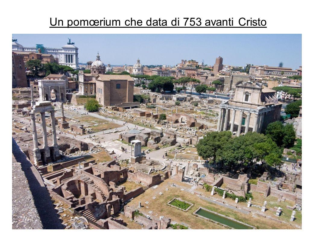 Un pomœrium che data di 753 avanti Cristo