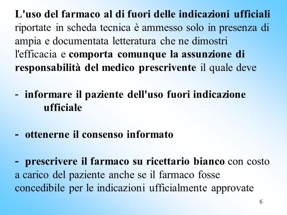 7 Le Note si caratterizzano come strumenti di indirizzo volti a definire, quando opportuno, gli ambiti di rimborsabilità, senza interferire con la libertà di prescrizione.