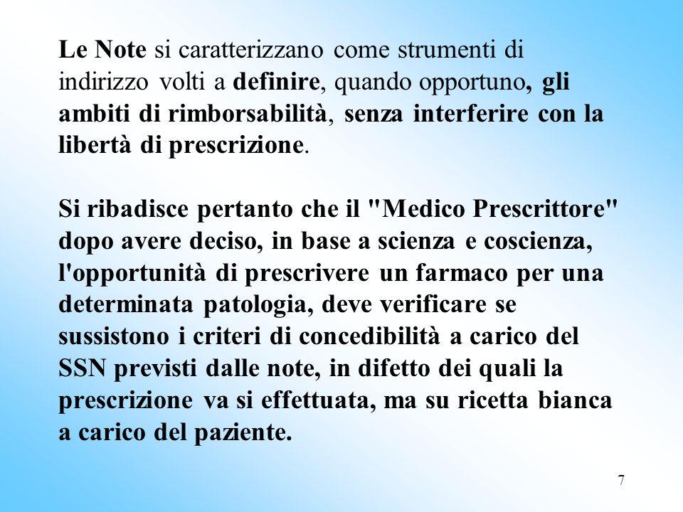 18 Gastroprotezione Non è concedibile l inibitore di pompa come gastroprotezione: - per la sola terapia cortisonica ( senza Fans) - per la sola terapia anticoagulante ( senza Fans) - per la sola terapia con ASA a basse dosi al di sotto dei 75 anni di età e/o in assenza di alto rischio emorragico