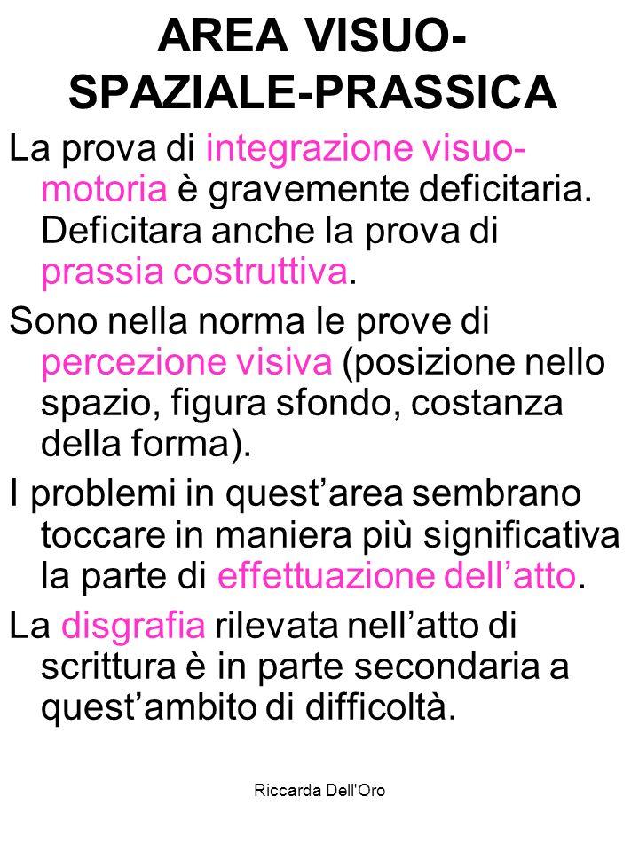 Riccarda Dell Oro INSEGNANTE DI SOSTEGNO per il DSA.