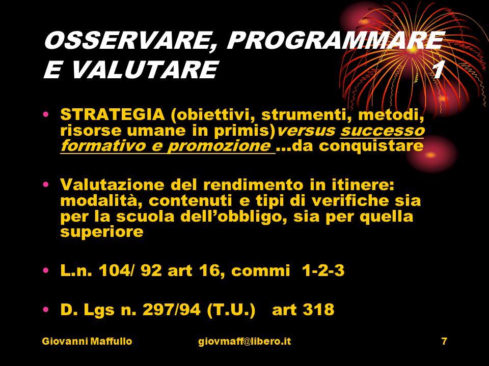 Giovanni Maffullogiovmaff@libero.it8 LA VALUTAZIONE 2 Art15 comma 2.