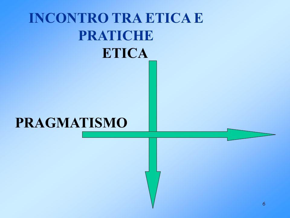 6 INCONTRO TRA ETICA E PRATICHE ETICA PRAGMATISMO