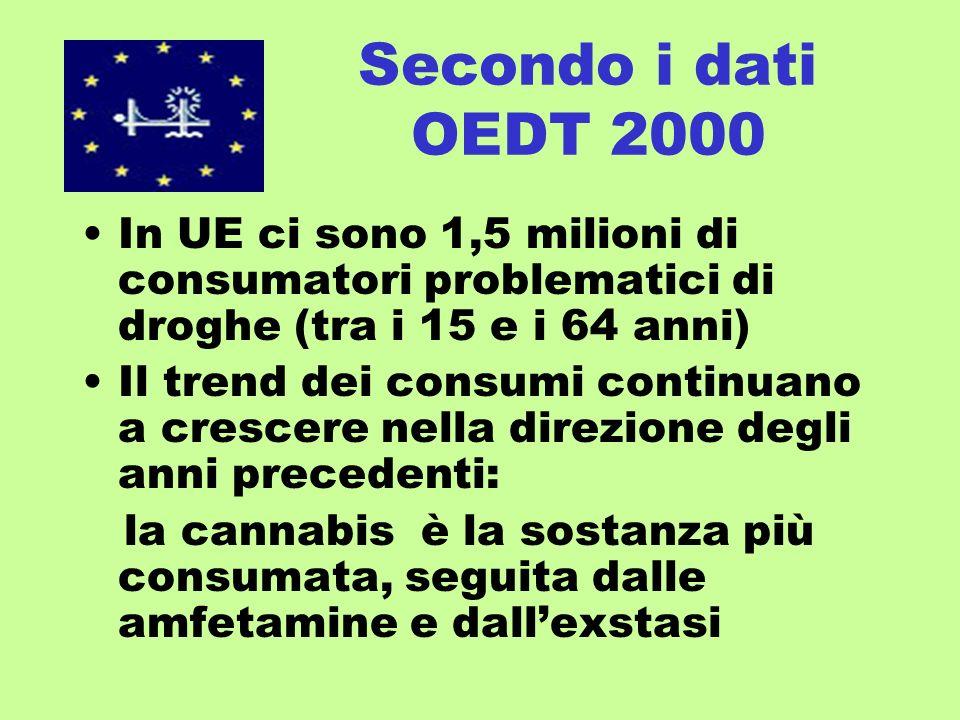 … le CT sono uno strumento di importanza fondamentale nella strategia europea di riduzione della domanda di droghe