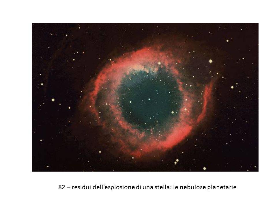 82 – residui dellesplosione di una stella: le nebulose planetarie