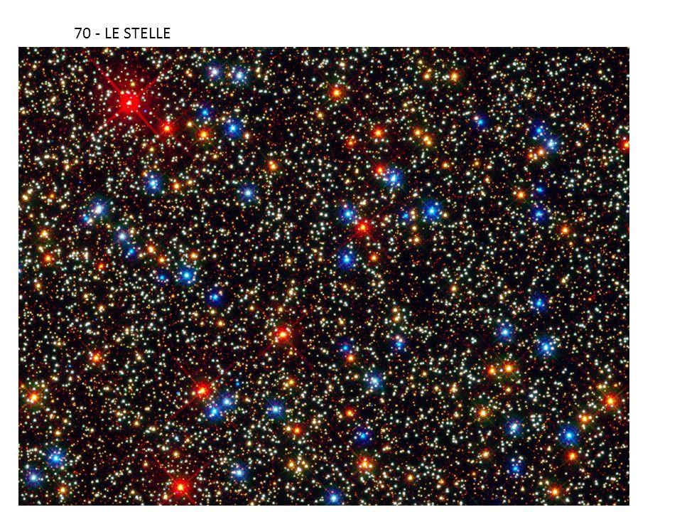 71- i colori delle stelle I colori delle stelle ci indicano la loro temperatura superficiale