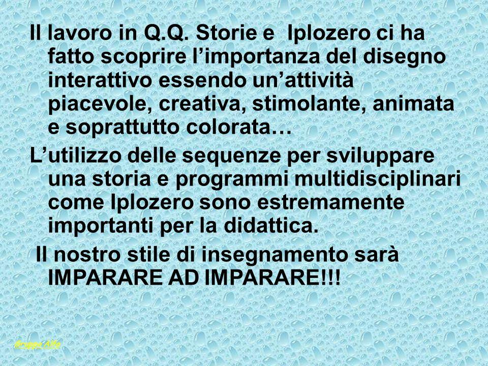 Il lavoro in Q.Q. Storie e Iplozero ci ha fatto scoprire limportanza del disegno interattivo essendo unattività piacevole, creativa, stimolante, anima