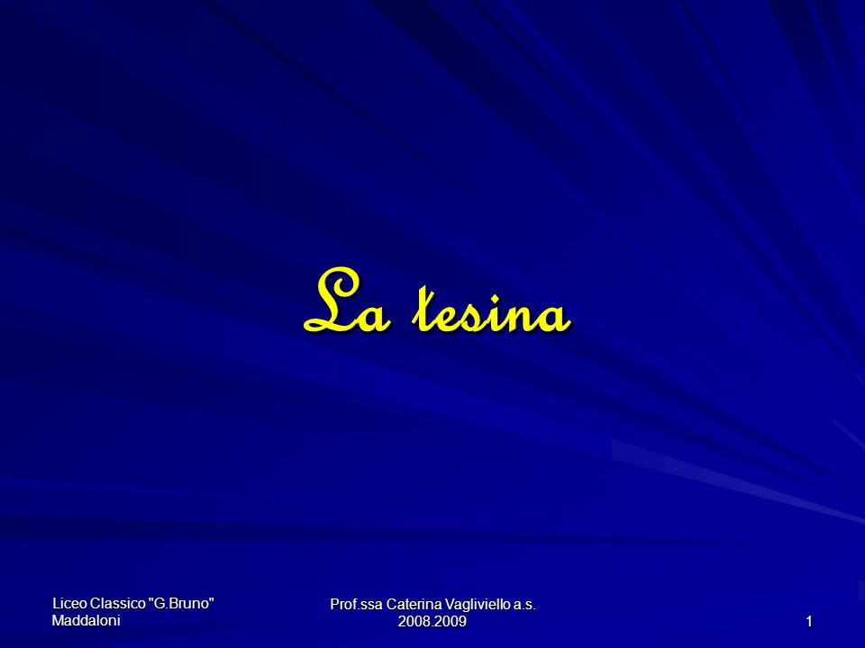 Prof.ssa Caterina Vagliviello a.s.2008.2009 11 Che stile utilizzo per scrivere una tesina .