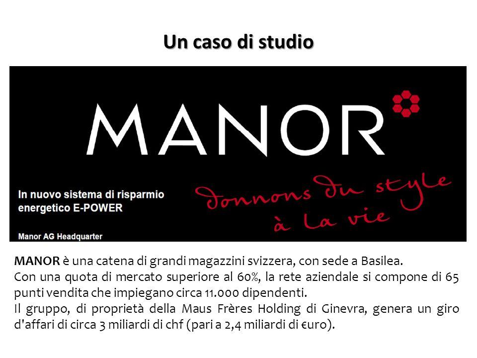 Un caso di studio MANOR è una catena di grandi magazzini svizzera, con sede a Basilea. Con una quota di mercato superiore al 60%, la rete aziendale si