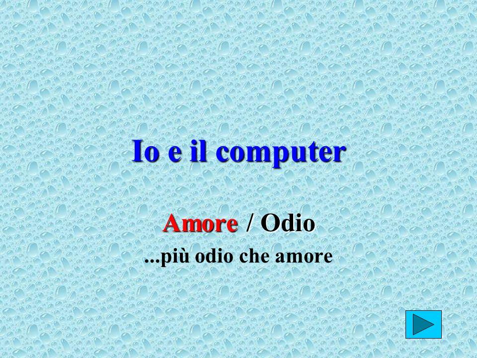 Io e il computer Amore/Odio Amore / Odio...più odio che amore