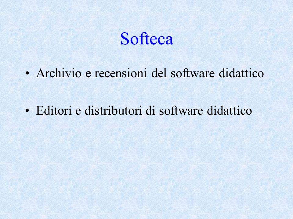 Softeca Archivio e recensioni del software didattico Editori e distributori di software didattico