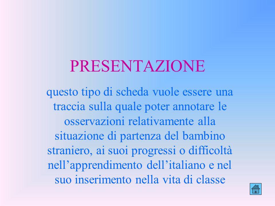 A pproccio L ingua I taliana A llievi S tranieri SCHEDA DI RILEVAZIONE DEL COMPORTAMENTO LINGUISTICO E RELAZIONALE www.unive.it/progettoalias