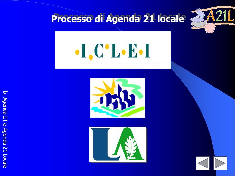 Processo di Agenda 21 locale b. Agenda 21 e Agenda 21 Locale