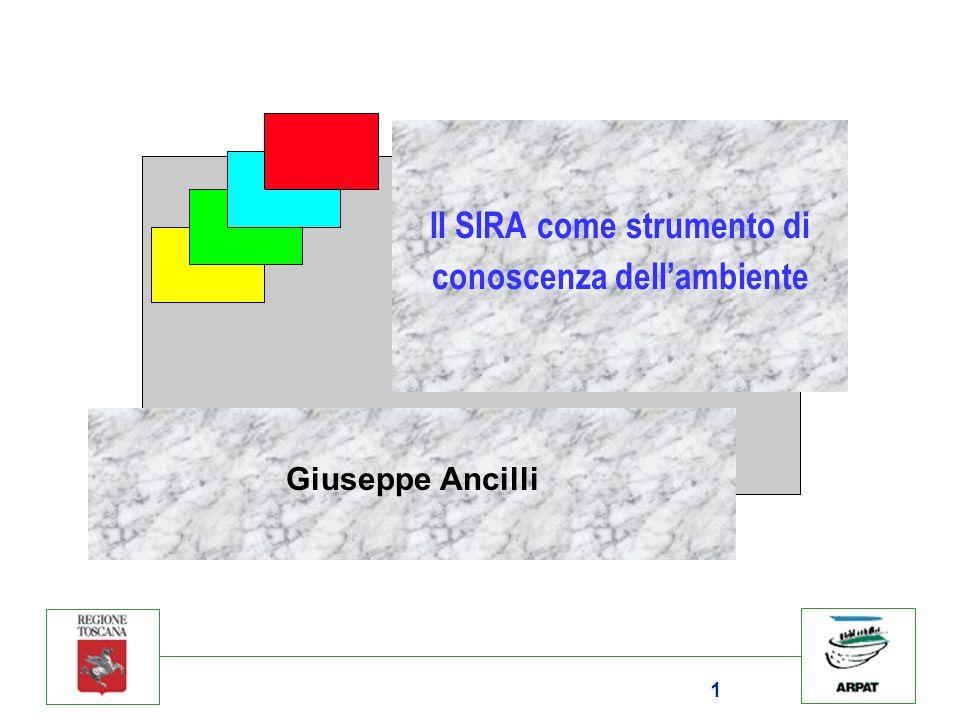1 Il SIRA come strumento di conoscenza dellambiente Giuseppe Ancilli