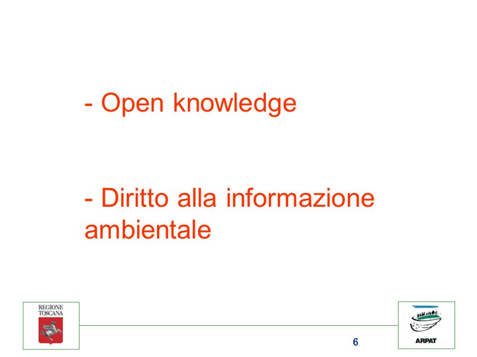6 - Open knowledge - Diritto alla informazione ambientale