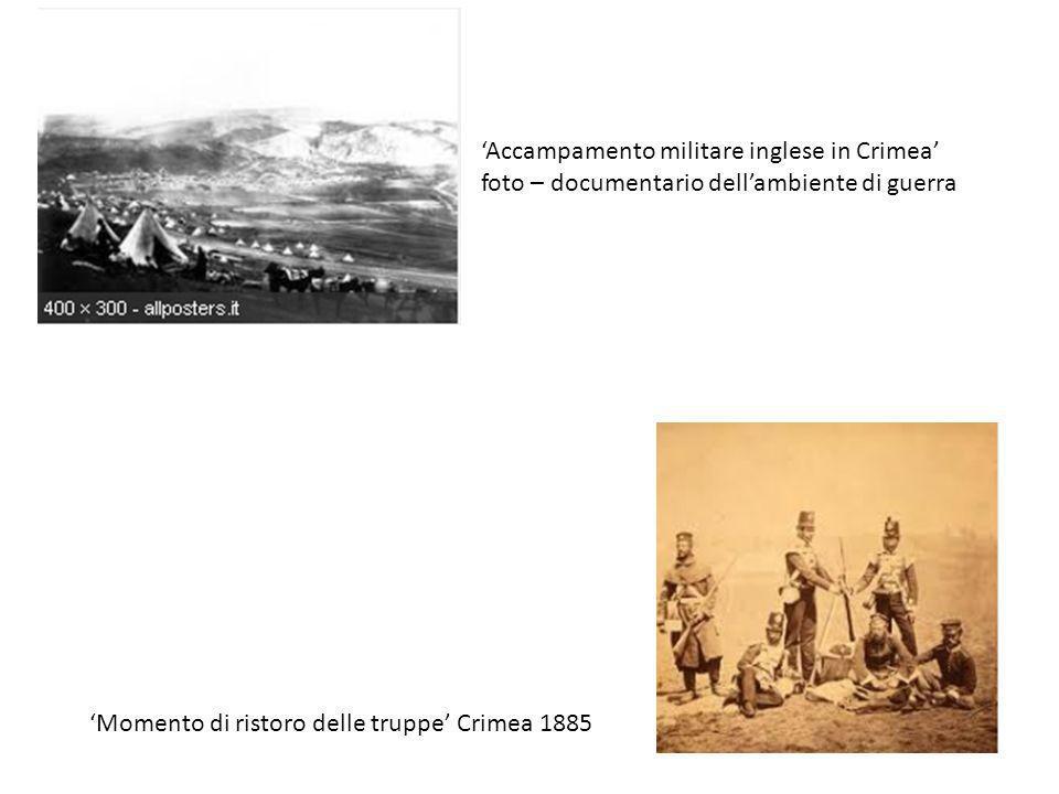 Accampamento militare inglese in Crimea foto – documentario dellambiente di guerra Momento di ristoro delle truppe Crimea 1885